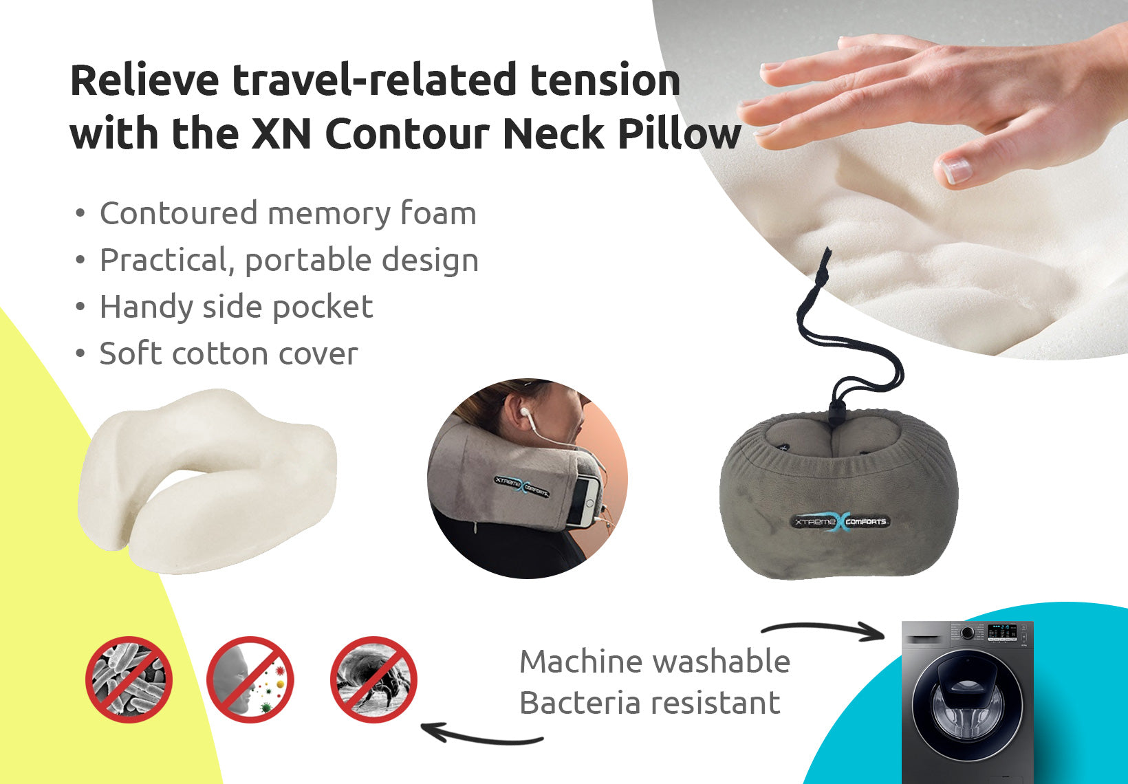 Xn Contour Neck Pillow Xtreme Comforts