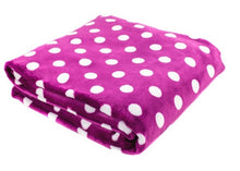 "Load image into Gallery viewer, Super Soft Polka Dot Oversized Throw, ""60"" x ""80"""