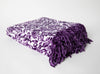 "Stylish Damask Fringe Throw ""50"" x ""70"""