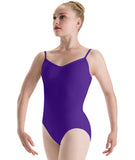 Motionwear Pinch-Front Lattice-Back Camisole Leotard