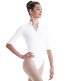 Motionwear Women's 3/4 Sleeve Mock-T Leotard