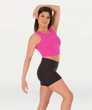 Body Wrappers Women's Racerback Midriff Pullover Top