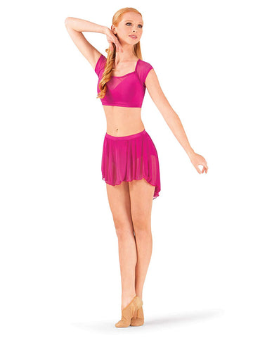 Body Wrappers Pull-On Full Bouncy Chiffon Skirt