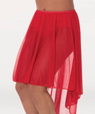 Body Wrappers Women's Hi-Low Pull On Skirt