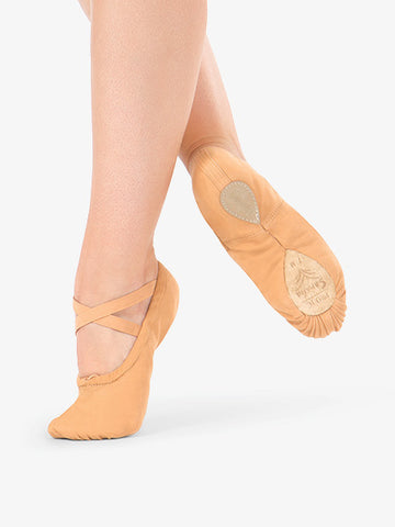 "Adult Sansha ""#1 Pro"" Canvas Split-Sole Ballet Shoes"