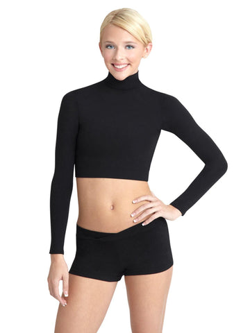 Capezio Women's Turtleneck Long Sleeve Top
