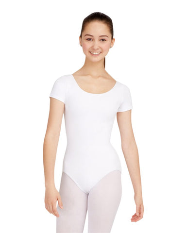 Capezio Women's Short Sleeve Cotton Leotard