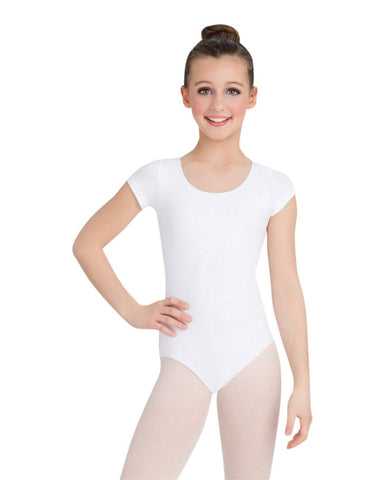 Capezio Girls Cotton Short Sleeve Leotard