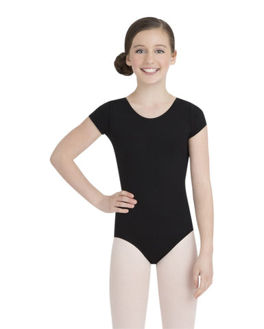 Capezio GIrls Short Sleeve Leotard