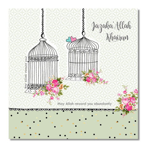 Teacher- Jazaka'Allah Khairun Cards