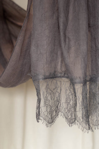 French Lace- Dark Grey