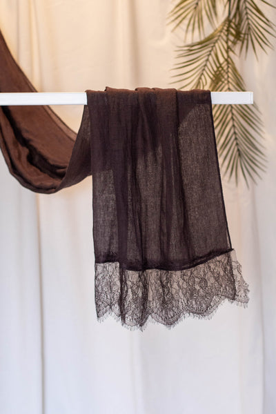 French Lace- Brown