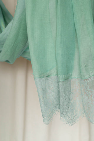 French Lace- Seafoam Green