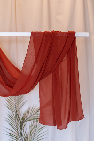 Crepe Chiffon- Burnt Orange