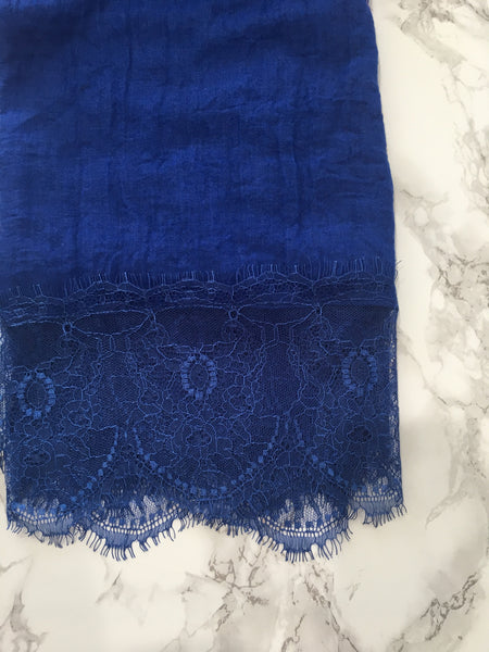 French Lace- Bleu Royal