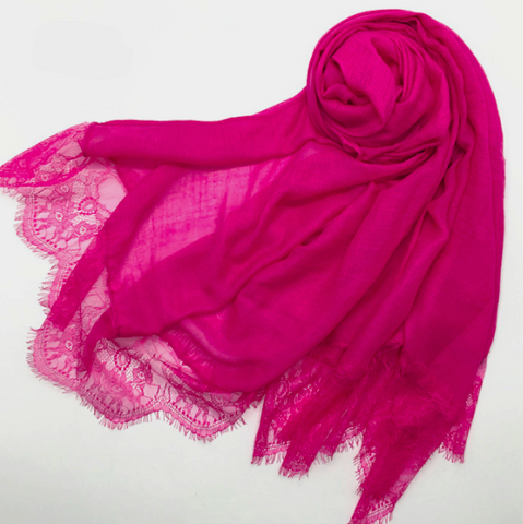 French Lace-Hot Pink