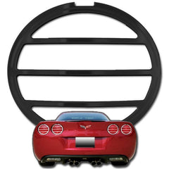 05-13 C6 / C6 Z06 Corvette Taillight Bezels - Billet  4 Pc. Plain