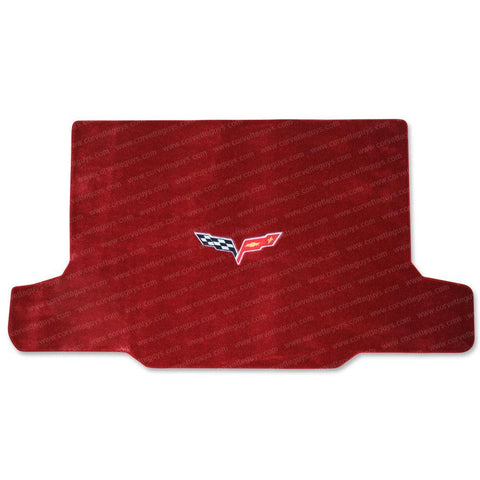 2005-2013 C6 Corvette Cargo Mat - Victory Red with C6 Emblem - Convertible,Interior