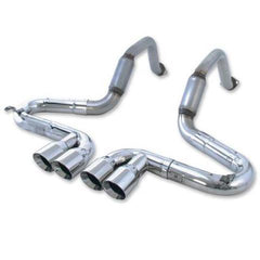 B&B Bullet Axle-Back Corvette Exhaust - Quad Round Tips (97-04 C5/C5 Z06)