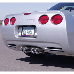 B&B Route 66 Axle-Back Corvette Exhaust - Quad 3.5