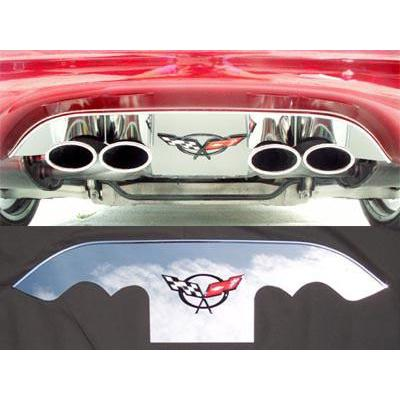 C5 / C5 Z06 Corvette Exhaust Port Filler Panel (Crossed Flags Emblem) (97-04)