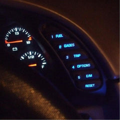 C5 Corvette HUD/DIC/WINDOW SWITCH Interior LED Light Package