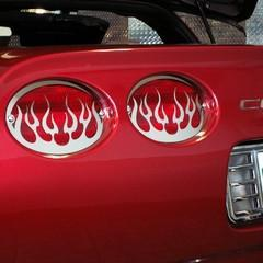 C5 Stainless Steel Flame Taillight Covers