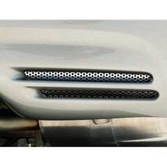 C5 & Z06 Corvette Rear Bumper Grilles - Perforated Stainless Steel