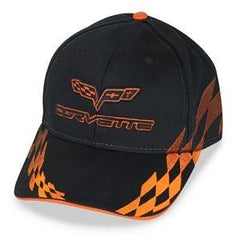C6 Corvette - Embroidered Bad Vette Hat Orange