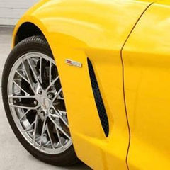 C6 Corvette Side Grilles (Set) - Laser Mesh Blakk Stealth Stainless Steel