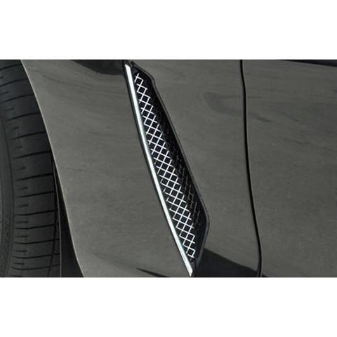 C6 Stainless Steel Diamond Laser Mesh Side Fender Grille (05-13 C6),Exterior