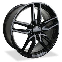 C7 Corvette - Black GM Z51 Split Spoke Wheels