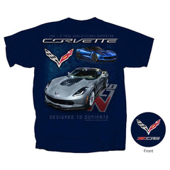 C7 Corvette - Z06 A True World Class Supercar T-shirt : Navy