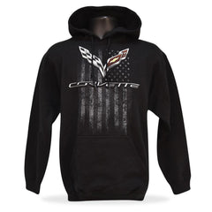 C7 Corvette American Legacy Hooded Sweatshirt : Black