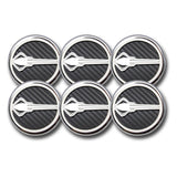 C7 Corvette Cap Cover 6Pc. Set Manual - Stingray Emblem GM Licensed Chrome/Brushed/Carbon Fiber Inlay Colors,Engine
