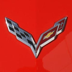 C7 Corvette GM Crossed Flags Emblem