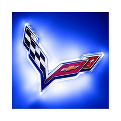 C7 Corvette Illuminated LED Rear Emblem - ORACLE™ : C7 Stingray, Z51 & Z06