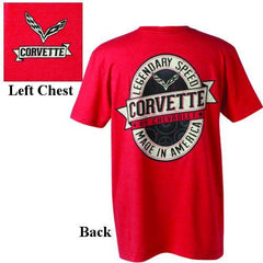 C7 Corvette Labeled Vintage T-Shirt : Heather Red