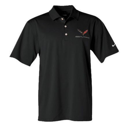 C7 Corvette Polo - Men's Nike Dri Fit Performance Polo : Black