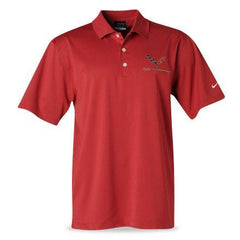 C7 Corvette Polo - Men's Nike Dri Fit Performance Polo Pro Red