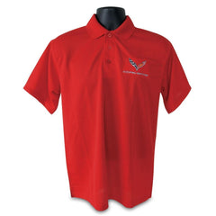 C7 Corvette Polo - Men's Performance Polo : Red