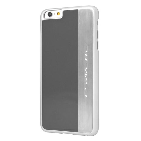C7 Corvette Script - Hardcase iPhone 6 PLUS Case : Silver Brushed,0