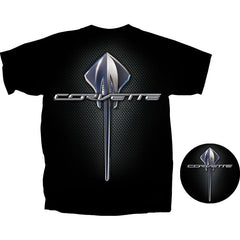 C7 Corvette Script w/Stingray Logo T-shirt : Black