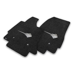 C7 Corvette Stingray Floor Mats - Lloyds Mats with Stingray Emblem: Black
