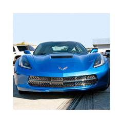 C7 Corvette Stingray Front Grille Stainless Steel Overlay