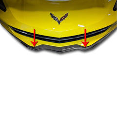 C7 Corvette Stingray Front Lip Spoiler/Splitter Polished w/ Carbon Fiber Overlay w/