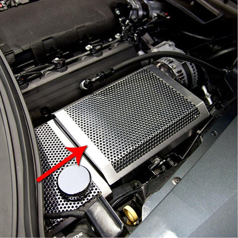 C7 Corvette Stingray Fuse Box Cover Polished - Perforated