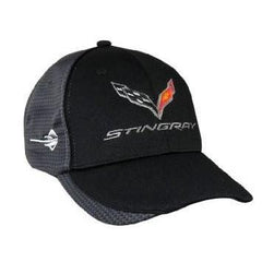 C7 Corvette Stingray Hat/Cap - Embroidered - Carbon Fiber Pattern : Black