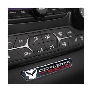 C7 Corvette Stingray Interior Dash Trim Badge - C7 Jake Logo : Black,Interior