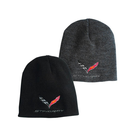 C7 Corvette Stingray Knit Pullover Beanie